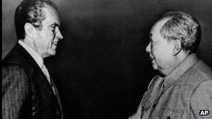 Richard Nixon and Mao Zedong, February 1972