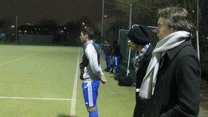 Bangladesh coach Lodewijk de Kruif watching players