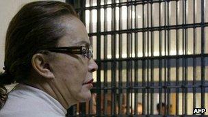 Elba Esther Gordillo in court on 27 February