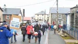 Protest Blaenau Ffestiniog