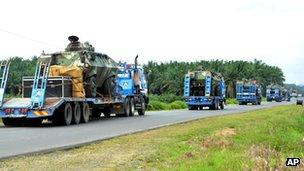 Military vehicles in Sabah, Malaysia (4 March 2013)