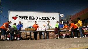 River Bend Foodbank truck