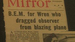Newspaper headline about Beth Hutchinson
