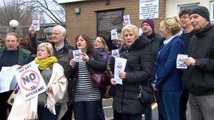 Open cast mine protesters