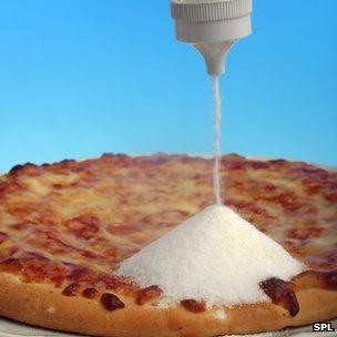 Salt mound on a pizza