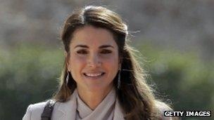 Jordan's Queen Rania in 2013