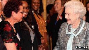 Queen at Commonwealth reception