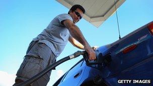 Man filling fuel