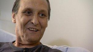 Transplant patient Ian Christie