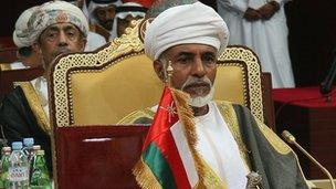 Sultan Qaboos bin Said has ruled Oman since 1970