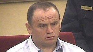 Veselin Vlahovic in court, 29 Mar 13