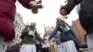Belarusian Catholics celebrate in Minsk, 31 March