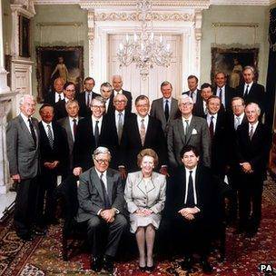The Thatcher cabinet in 1989