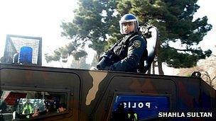 Azeri police in Baku, 10 Mar 13