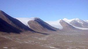 Hills in Antarctica