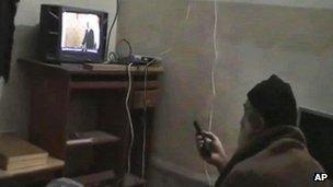Osama Bin Laden in his Abbottabad compound