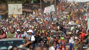 Protests in Guinea in March 2013