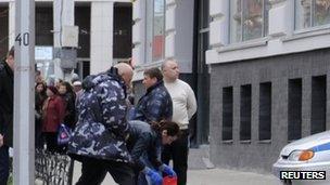 The scene of the shooting in Belgorod. Photo: 22 April 2013