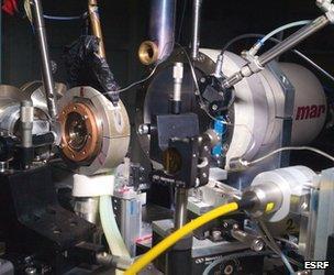X-ray diffraction setup at ESRF