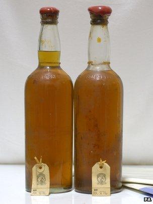 SS Politician whisky bottles