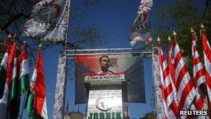 Jobbik chairman Gabor Vona in Budapest (4 May 2013)