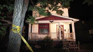 Investigators searched the house in Cleveland where the women were held