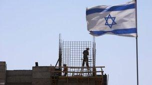 Construction site at a Jewish settlement