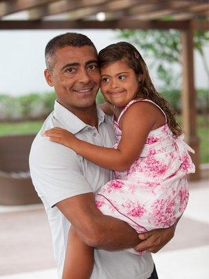 Romario and his daughter, Ivy