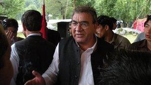 Sardar Arif Shahid at a rally in Keran in 2012