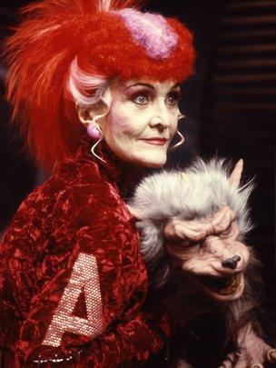 Sheila Hancock as Helen A. in the Dr Who adventure 'The Happiness Patrol'.