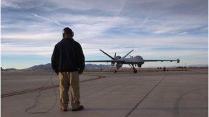 Predator drone on a tarmac