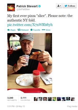 Patrick Stewart tweet