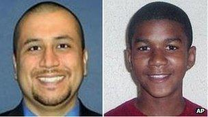 George Zimmerman and Trayvon Martin composite picture
