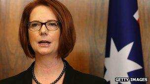 File photo: Julia Gillard, 23 May 2013