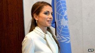 Queen Rania of Jordan, May 2013