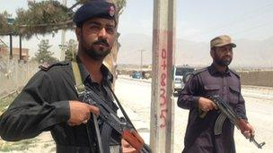 Security personnel in Quetta