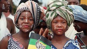 ANC supporters in 1994