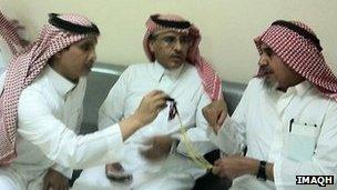 Rights activists Mohammad al-Qahtani and Mohammed al-Hamid