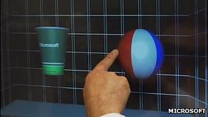 Microsoft 3D screen