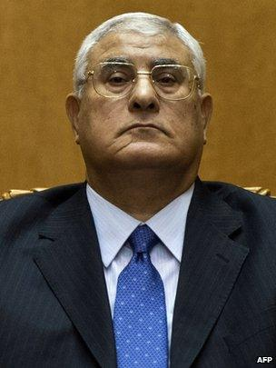 Adly Mansour in Cairo, 4 July