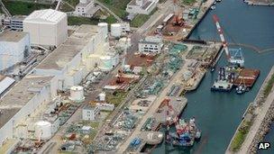 Aerial photo taken on 9 July 2013 of the Fukushima Dai-ichi nuclear power plant in Okuyama, Fukushima prefecture, northern Japan