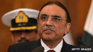 Incumbent President Asif Ali Zardari