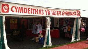 Stondin Cymdeithas yr Iaith Gymraeg