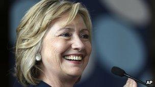 Hillary Clinton file picture