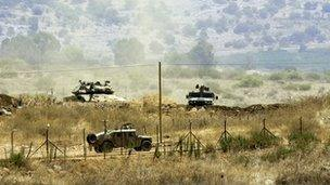 File photo - Israeli troops on border