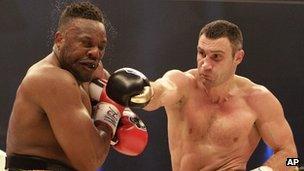 Klitschko versus Dereck Chisora, 18 Feb 12