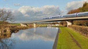 Image of HS2 Birmingham and Fazeley viaduct