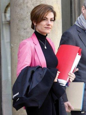 Chantal Jouanno leaves the Elysee Palace, March 2010