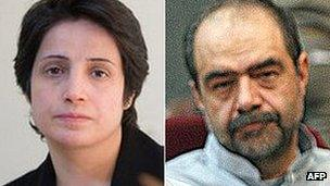 Nasrin Sotoudeh and Mohsen Aminzadeh