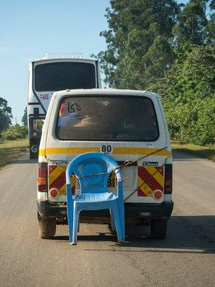 Matatu with chair